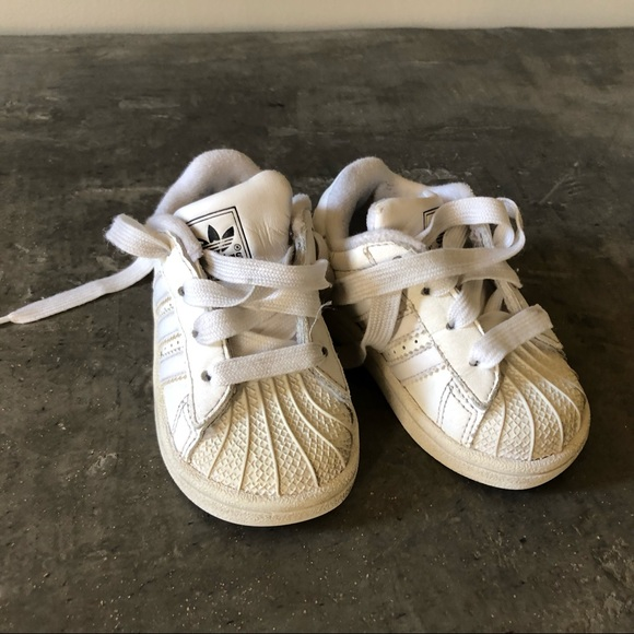 adidas Other - Adidas white tennis shoes (12-18 months old)